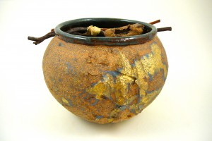 High fired decorative pot